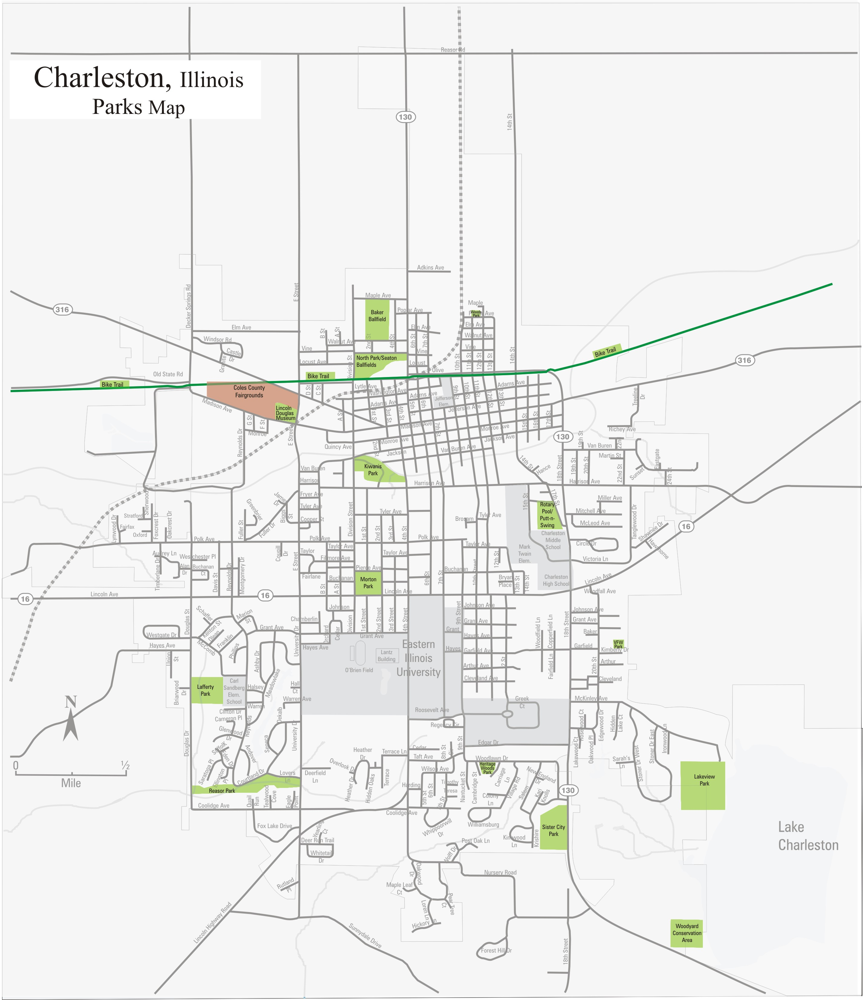 Maps Welcome To Charleston Illinois - Map of il